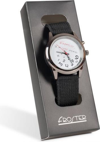 Zegarek Froster Zegarek na rękę dla spóźnialskich