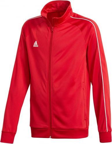 Adidas Bluza piłkarska CORE 18 PES JKTY czerwona r. 140 cm (CV3579)