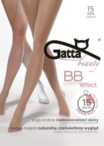 GATTA Rajstopy BB Creme Effect z lycra 15 den golden r. 4-L