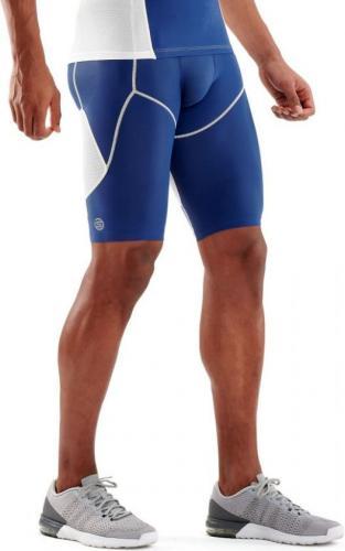 Skins spodnie krótkie Dynamic Ultimate Cool white/zephyr r.  L