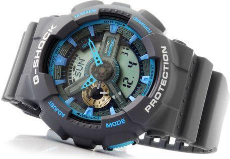 Zegarek Casio Męski DRAGON 20 Bar - Można nurkować (GA-110TS -8A2ER)