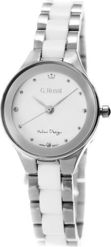 Zegarek Gino Rossi damski Kostini srebrno-biały (11041B-3C1)