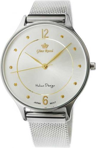 Zegarek Gino Rossi Damski Gretina srebrny (10317B-3C2)