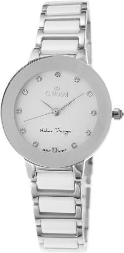 Zegarek Gino Rossi damski Loni srebrno-biały (11413-3C1)