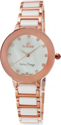 Zegarek Gino Rossi damski Loni rose gold-biały (11413-3D3)