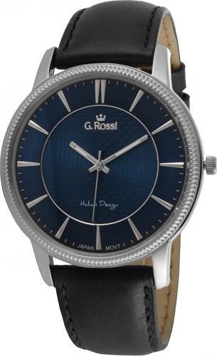 Zegarek Gino Rossi męski Brenton czarny (10077A-6A1)