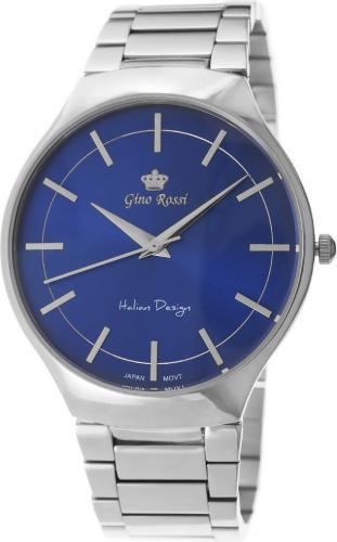 Zegarek Gino Rossi męski Husin srebrny (10938B-6C1)