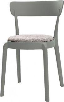 King Home Krzesło Fluffi szare