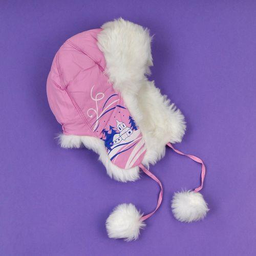 Art of Polo Czapka dziecięca Zimowy pejzaż różowa
