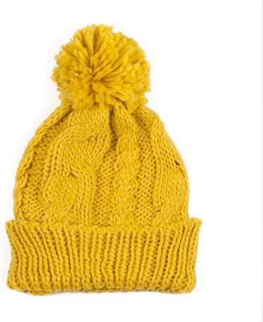 Art of Polo Czapka damska Winter comfort żółta