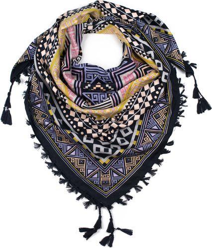 Art of Polo Chusta damska Aztec geometry czarno żółta