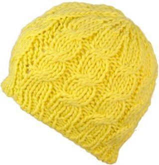 Art of Polo Czapka damska Klasyczny warkocz żółta
