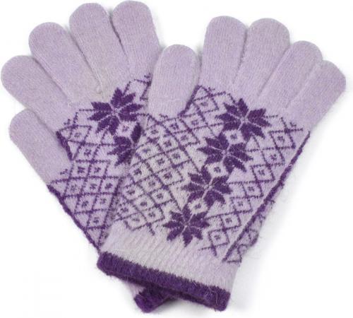 Art of Polo Angorowe rękawiczki w gwiazdki rk1620-2 lawendowe r. uniwersalny