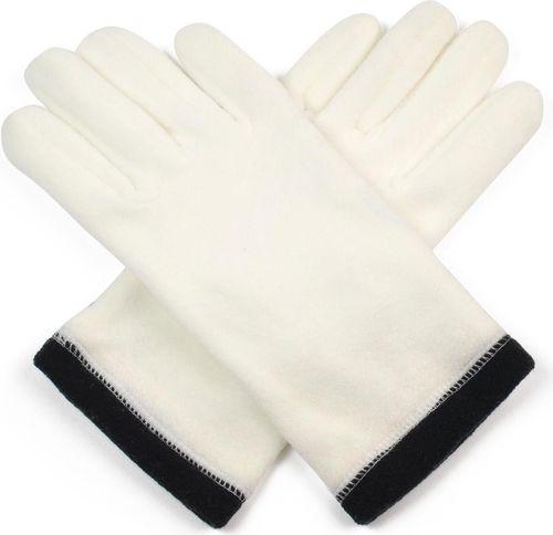 Art of Polo Rękawiczki damskie polarowe 2-kolorowe beżowo czarne