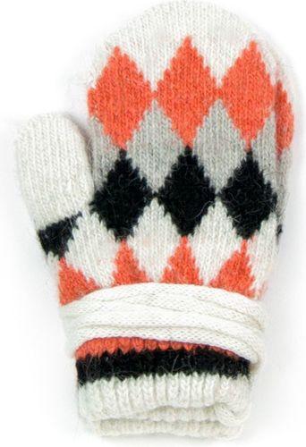 Art of Polo Rękawiczki dziecięce Trapezy białe (rkq052)