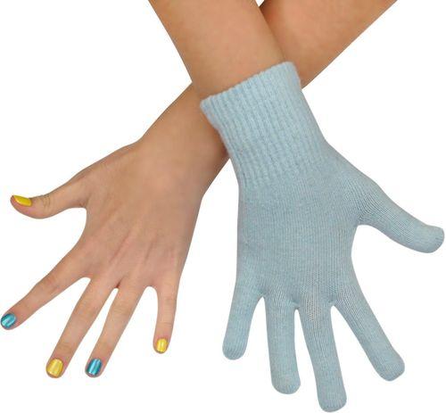 Art of Polo Rękawiczki damskie wełniane niebieskie (rk979)