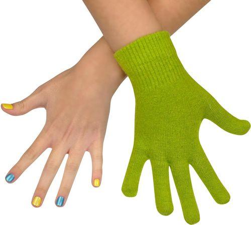 Art of Polo Rękawiczki damskie wełniane zielone (rk979)