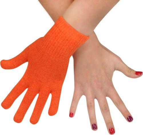 Art of Polo Rękawiczki damskie wełniane pomarańczowe (rk979)