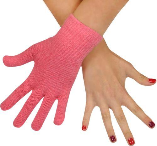 Art of Polo Rękawiczki damskie wełniane różowe (rk979)