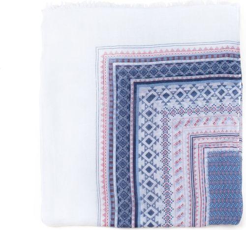 Art of Polo Narzutka damska Pocahontas biało-niebieska