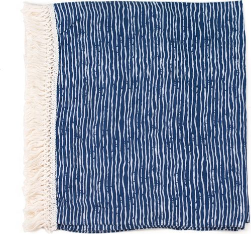 Art of Polo Narzutka damska Afrykańskie marzenie niebieska