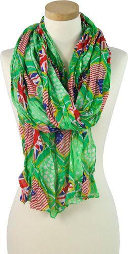 Art of Polo Szal damski Mix & match zielony