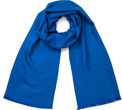 Art of Polo Szal damski Stylowy minimalizm niebieski