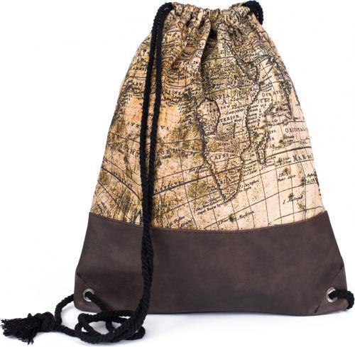 Art of Polo Plecak damski Old map beżowy
