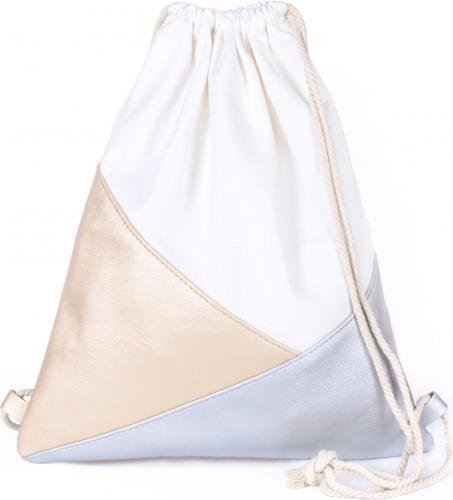 Art of Polo Plecak damski Triangles biało-beżowy