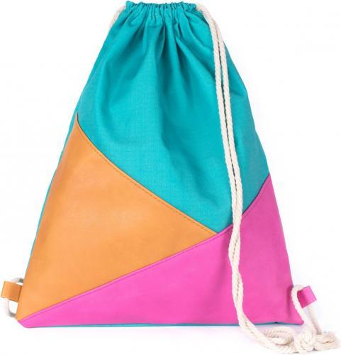 Art of Polo Plecak damski Triangles niebiesko-pomarańczowo-różowy
