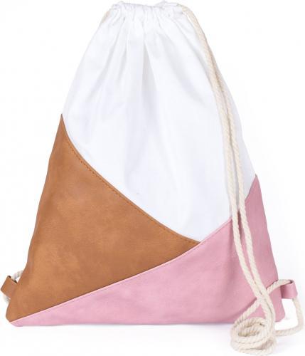 Art of Polo Plecak damski Triangles biało-brązowo-różowy