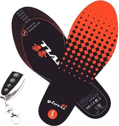 Glovii Ogrzewane wkładki do butów z pilotem czarno-czerwone r. 41-46 (GW2L)