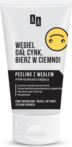 AA Emoji Peeling z węglem mikrozłuszczający do twarzy 150ml
