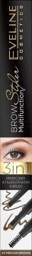 Eveline Brow Multifunction Styler Kredka do brwi 3w1 nr 01 Medium Brown  1szt