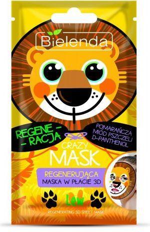 Bielenda Crazy Mask Maska regenerująca w płacie 3D Lew