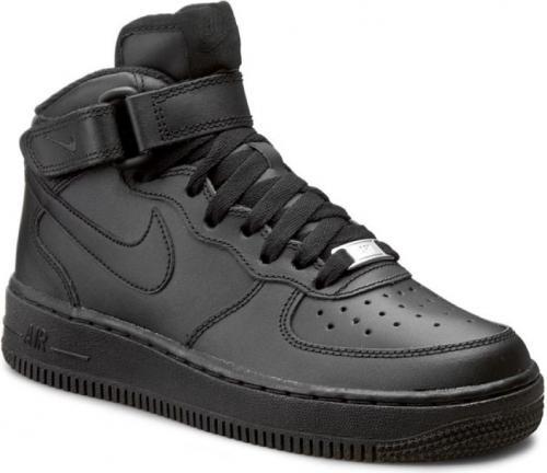 Nike buty dziecięce Air Force 1 MID Gs czarne r. 38 1/2 (314195-004)