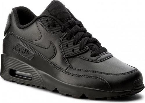 Nike Buty damskie Air Max 90 Lea Gs 833412-001 czarne r. 38.5