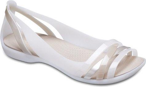 Crocs Sandały damskie Isabella Huarache 2 Flat białe r. 36/37 (204912-1C4)