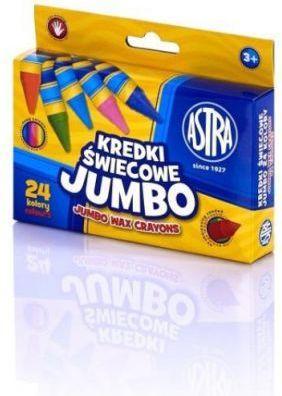 Astra Kredki świecowe Jumbo 24 kolory