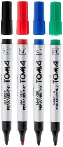 Toma Marker permanentny okrągły mix 4 kolory