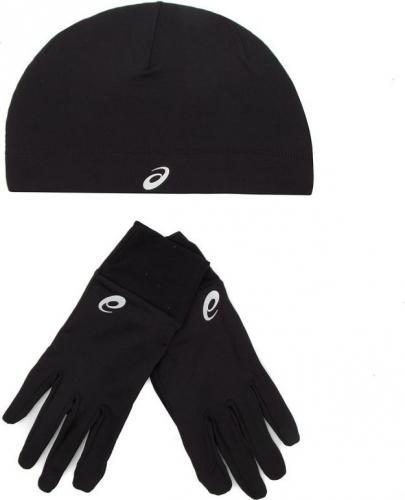 Asics Zestaw do biegania czapka i rękawiczki Running Pack 001 Performance Black r. M