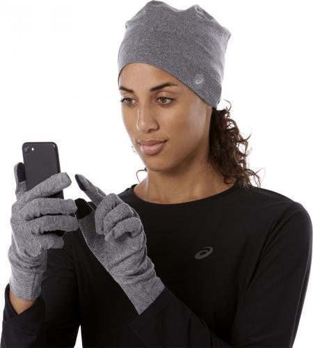 Asics Zestaw do biegania czapka i rękawiczki Running Pack 002 Carbon r. L