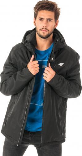 4f Kurtka narciarska męska H4Z18-KUMN004 czarna r. L