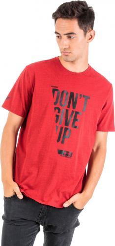 4f Koszulka męska H4Z18-TSM015 czerwono-czarna  r. M