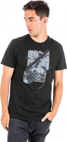 4f Koszulka męska H4Z18-TSM013 czarno-szara r. M