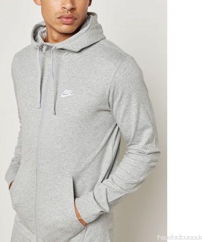 Nike Bluza męska M NSW Hoodie FZ JSY Club szara r. XL  (861754-063)