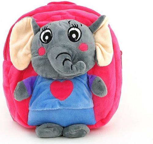 ADAR Plecak welurowy słoniki