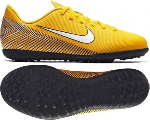 Nike Buty piłkarskie JR Mercurial Vapor 12 Club Neymar TF żółte r. 37.5 (AO9478 710)