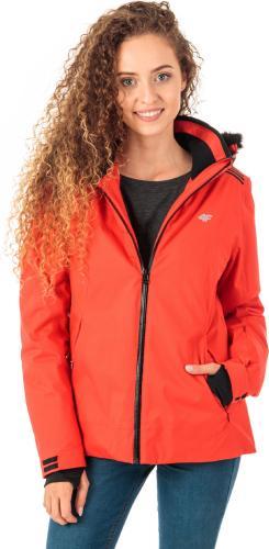 4f Kurtka narciarska damska H4Z18-KUDN008 czerwona r. L