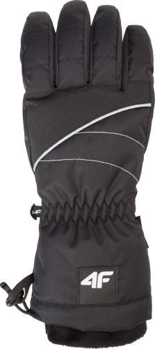 4f Rękawiczki damskie H4Z18-RED003 czarne r. M